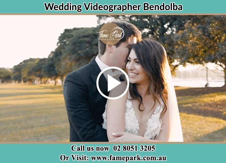 The Groom embrace his bride Bendolba NSW 2420