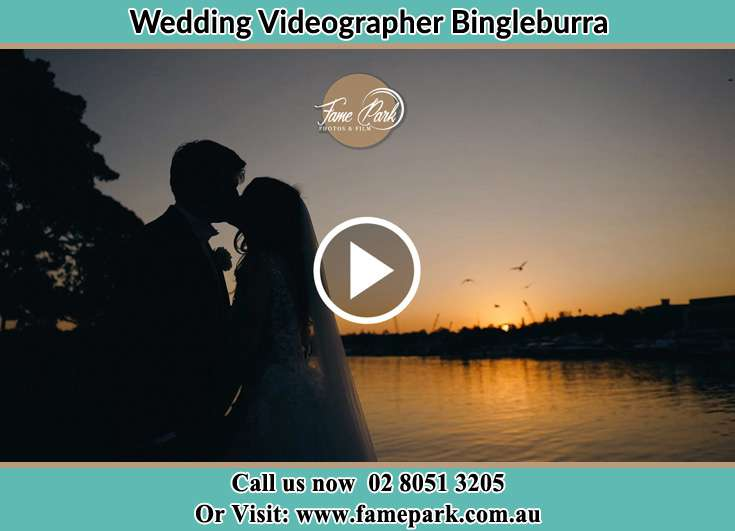 The newlyweds kissing Bingleburra NSW 2311