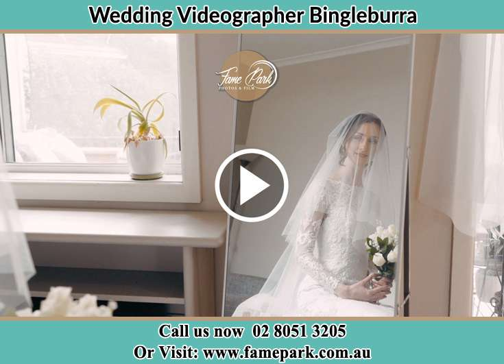The Bride looking at the mirror Bingleburra NSW 2311