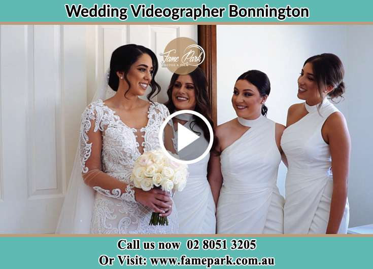 The Bride posing for the camera with her friends Bonnington NSW 2587