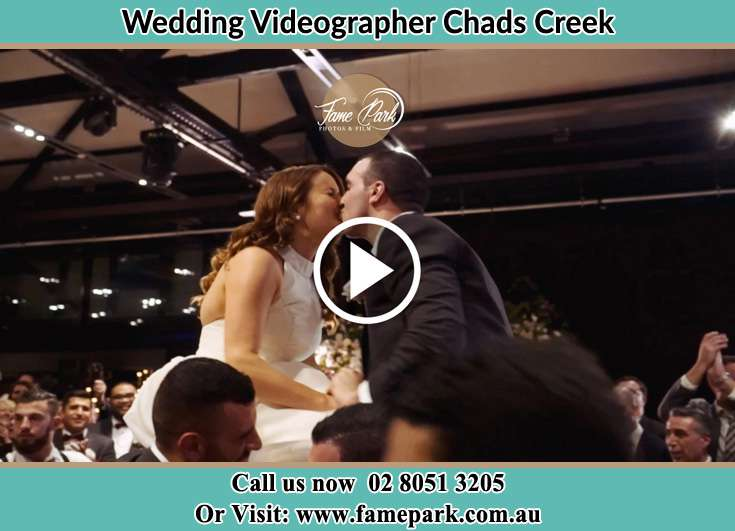 The newlyweds kissing Chads Creek NSW 2311