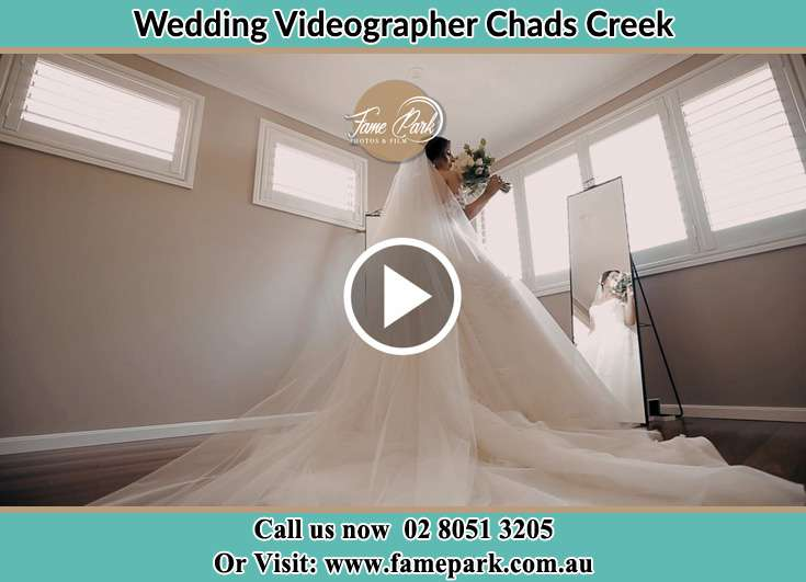 The Bride looking at the window Chads Creek NSW 2311