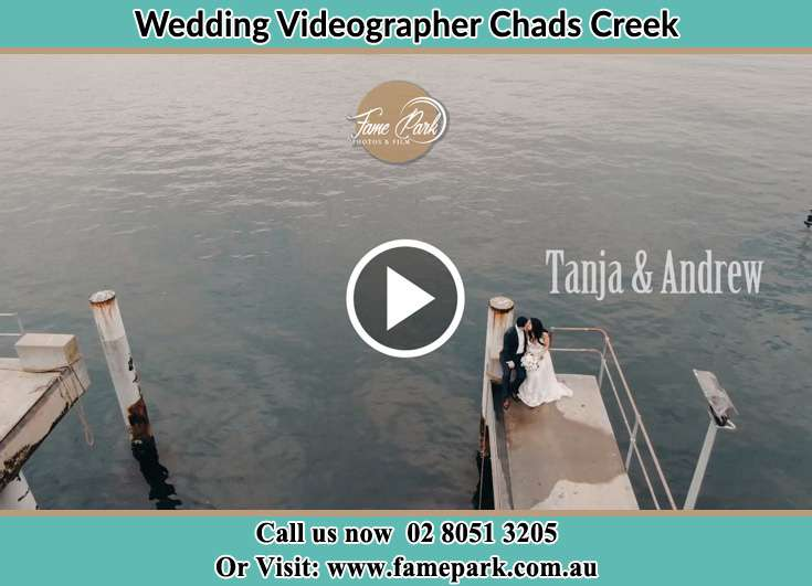 Aerial shot for the newlywed kissing Chads Creek NSW 2311
