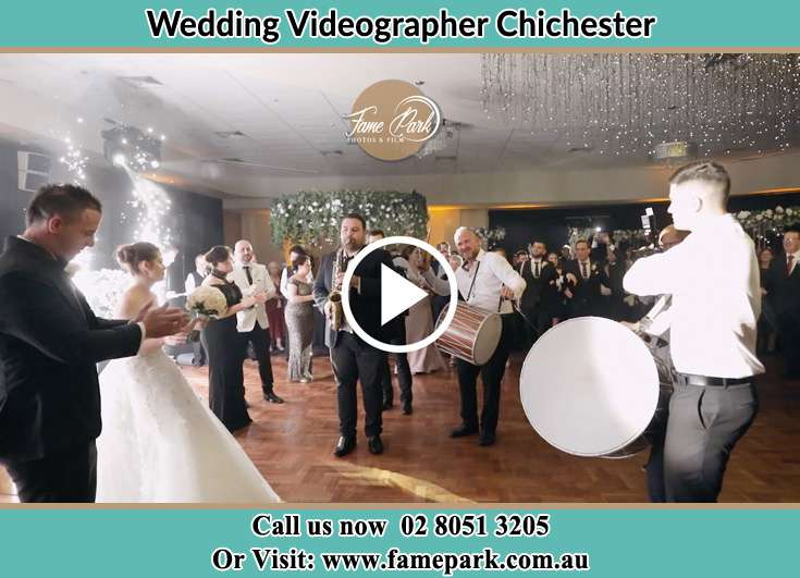 The newlyweds dancing on the dance floor with the bands Chichester NSW 2420