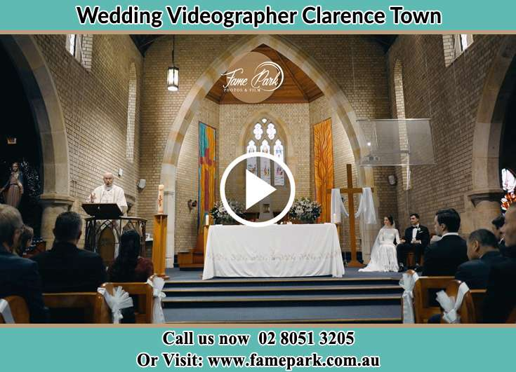 During the wedding ceremony Clarence Town NSW 2321