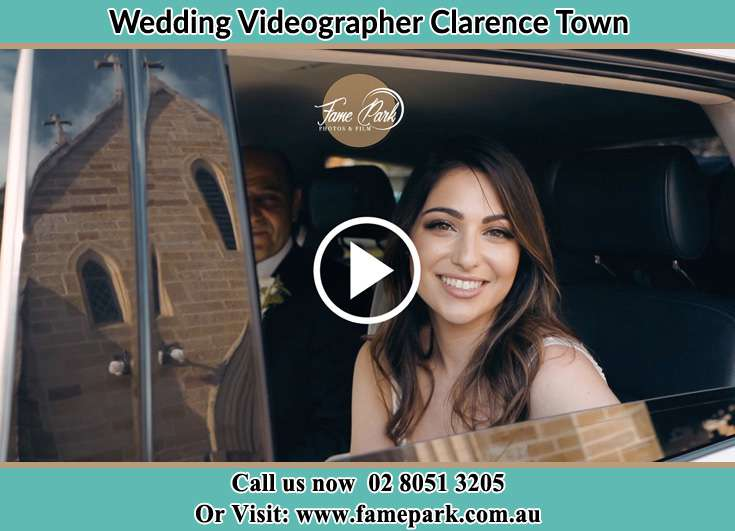The Bride looking at the window of her bridal car Clarence Town NSW 2321