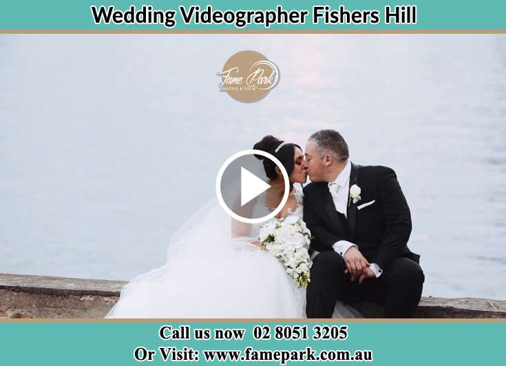 The newlyweds kissing Fishers Hill NSW 2421
