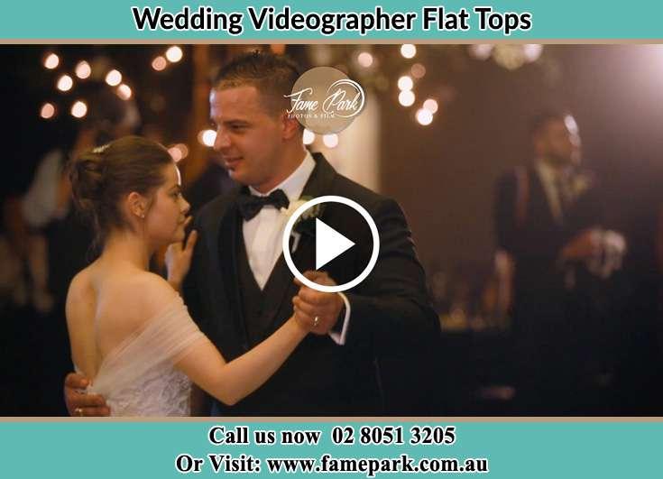 The newlyweds dancing on the dance floor Flat Tops NSW 2420