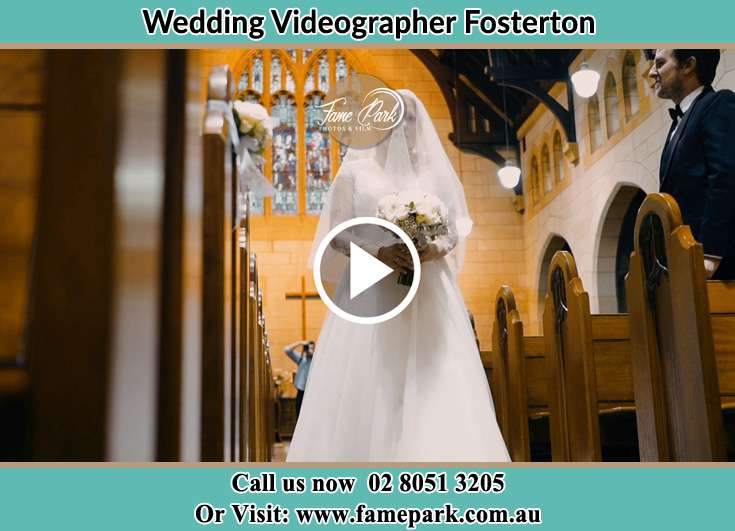 The Bride walking down the aisle Fosterton NSW 2420
