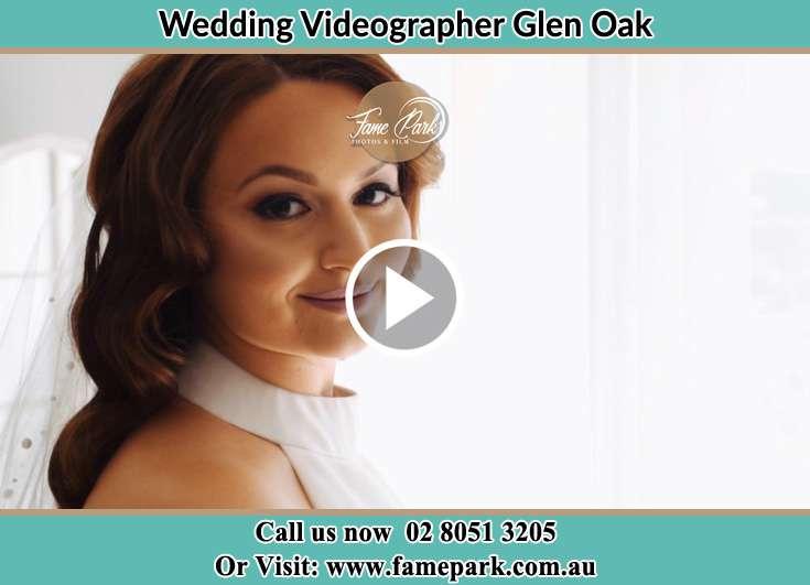 The Bride posing for the camera Glen Oak NSW 2320