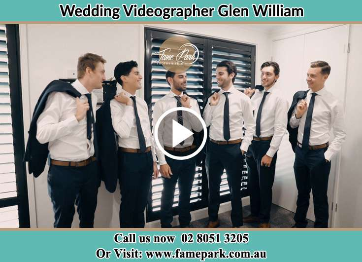The Groom posing for the camera with his best mans Glen William NSW 2321