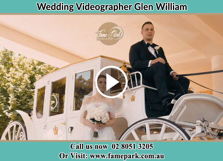 The Bride beside her bridal carriage Glen William NSW 2321