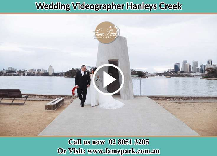 The Groom and the Bride walking at the bayport Hanleys Creek NSW 2420