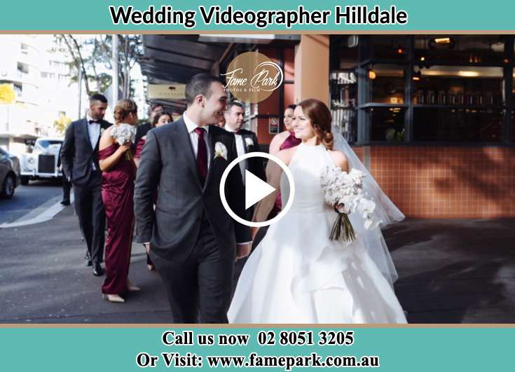 The Groom and the Bride going to the reception area Hilldale NSW 2420