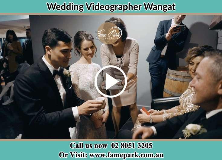 During the wedding ceremony Wangat NSW 2420
