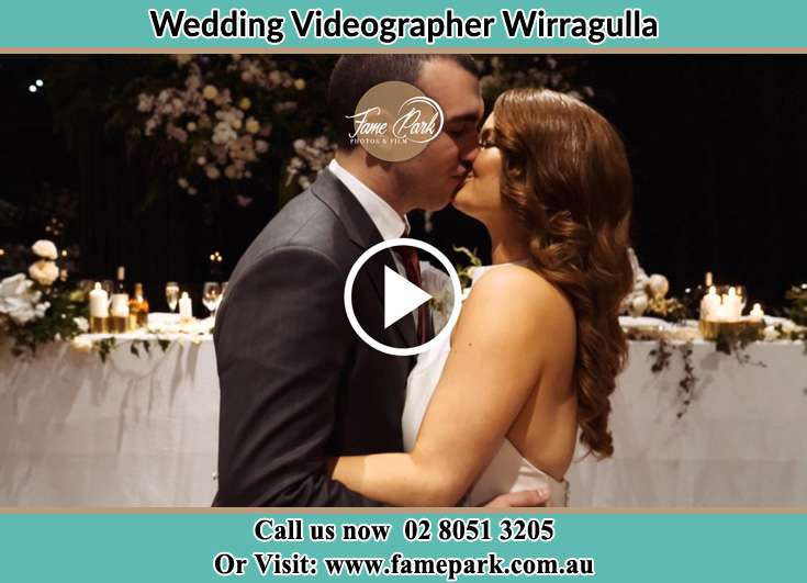 The newlyweds kissing Wirragulla NSW 2420